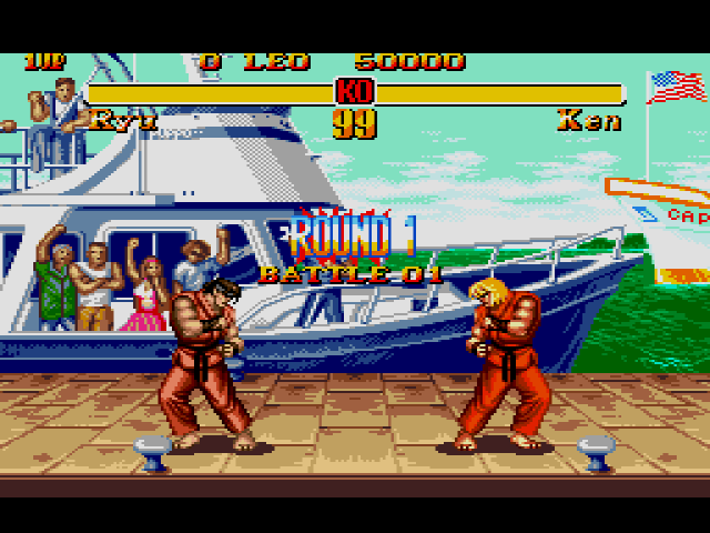 Street Fighter II - Megadrive - Ryu vs Ken