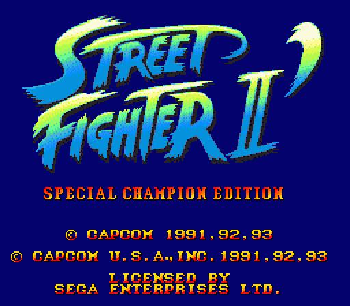 Street Fighter Ii Special Championship Edition Sega Megadrive