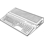 Atari ST Line Art Icon