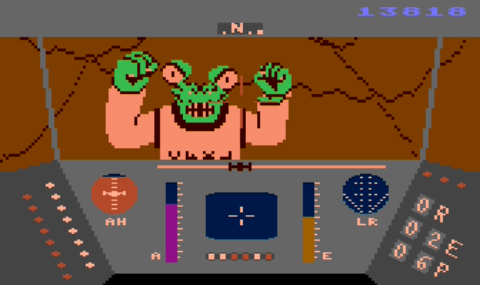 Rescue on Fractalus - Atari 8-bit - Alien Pilot