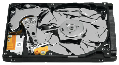 Smashed Hard Drive – Image: thefileroom.com