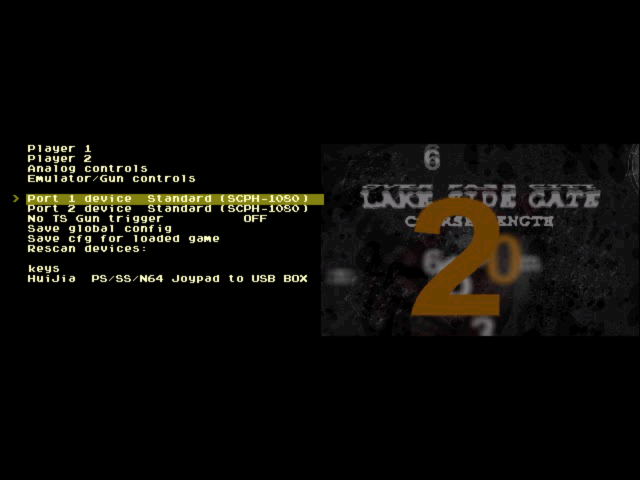 PiPlay PCSX ReARMed Native Menu - Controls