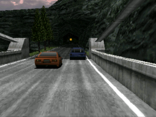 PlayStation. Rage Racer, In Game. Standard Resolution - Smoothed