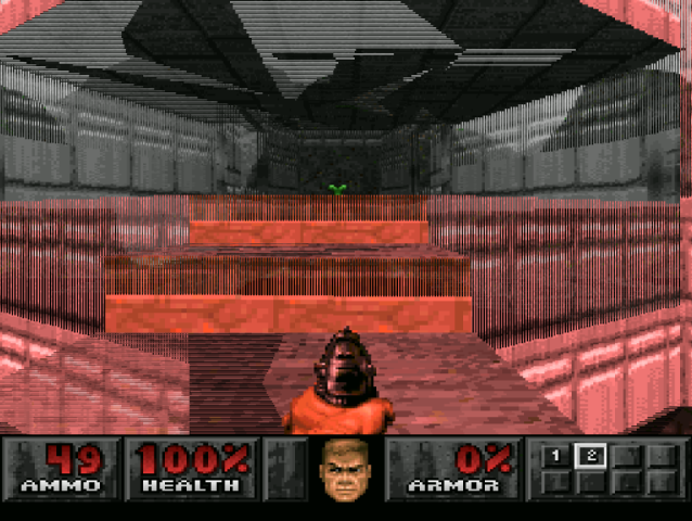 PlayStation. Doom. Enhanced Resolution - Glitches