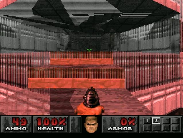PlayStation. Doom. Enhanced Resolution - Glitches