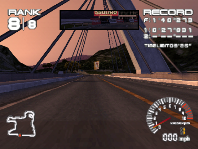 PlayStation. Ridge Racer Type 4. Bridge. Enhanced Resolution, Bilinear Smoothing