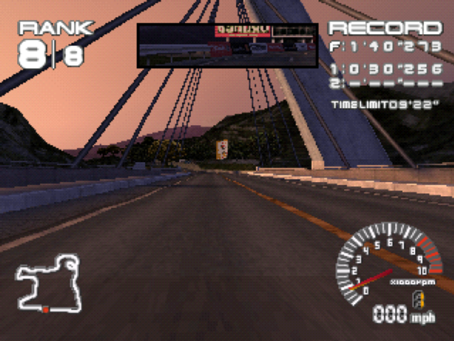 PlayStation. Ridge Racer Type 4. Bridge. Standard Resolution, Bilinear Smoothing