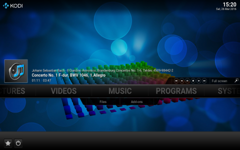 Kodi Media Center - Music Playback