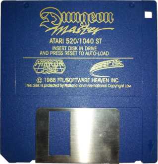 Atari ST - Floppy Disk - Dungeon Master - FTL Software