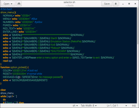 gedit Text Editor - Code Syntax Highlighting