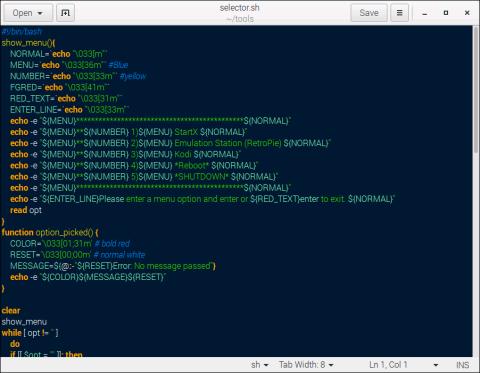 gedit Text Editor - Code Syntax Highlighting