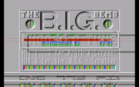 Atari ST - The B.I.G Demo - TEX - Lower Border Overscan
