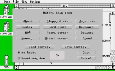 Hatari - GEM Desktop - Medium Resolution - Main Menu