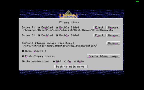 Hatari - Floppy Disk Menu