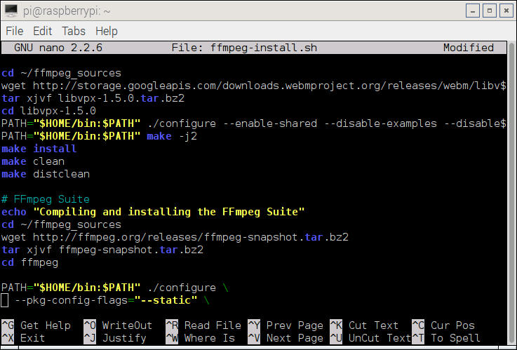 Compiling FFmpeg and Codecs from Source Code: All-in-One Script